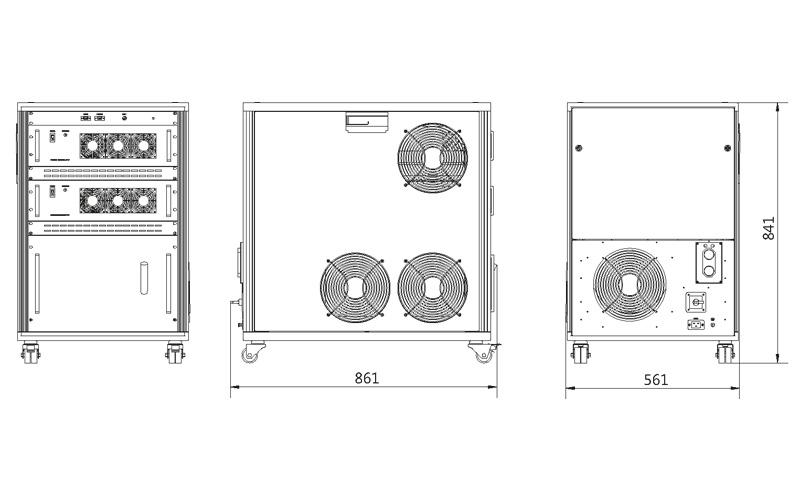 Atlantic HR power supply outline drawings