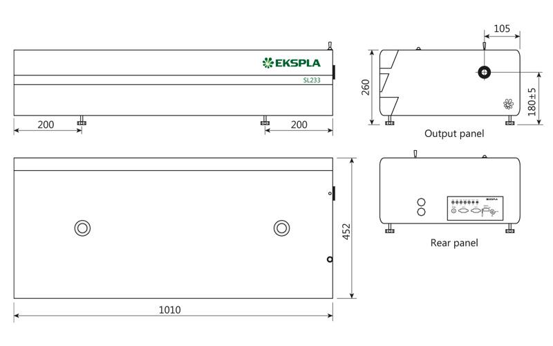 SL230 laser head outline drawing