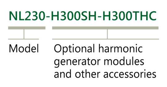 Ordering information of NL230 lasers