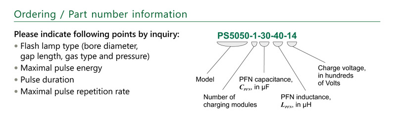 Ordering information of PS5050