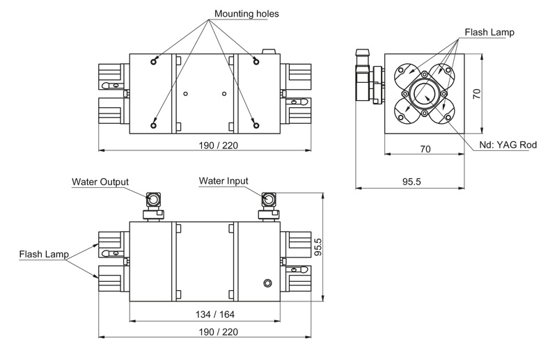 4MA18-58 / 4MA18-90 models pump chambers drawing