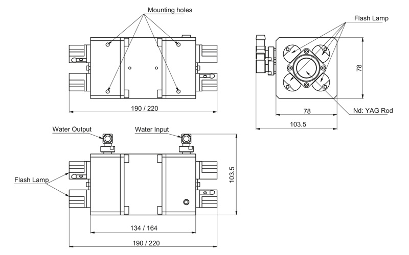 4MA25-58 / 4MA25-90 models pump chambers drawing