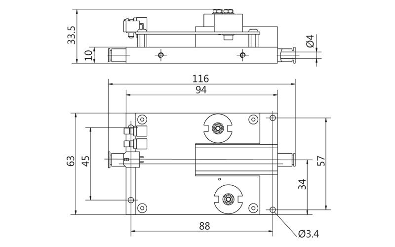 Fig. 15. Outline drawing of PCD-UHRS series driver with general purpose pad