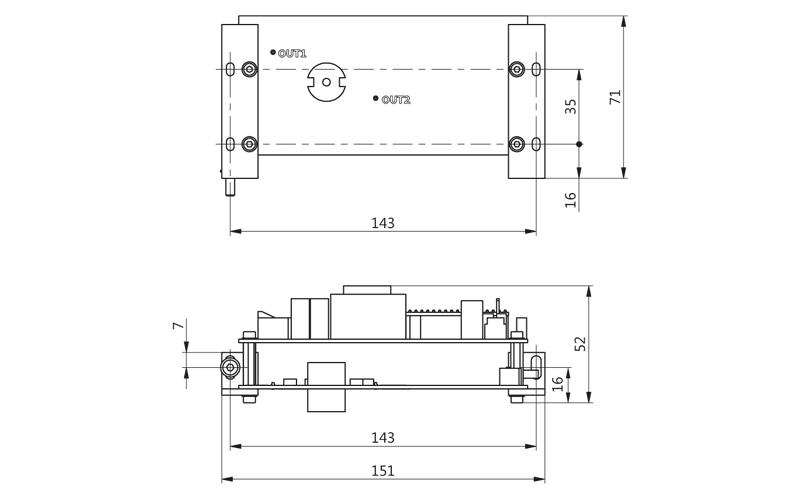 Fig. 1. Outline drawing of PCD-UHV
