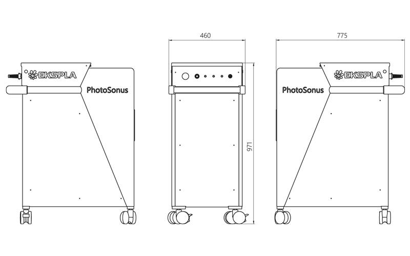PhotoSonus dimensions (in mm)